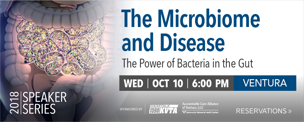 The Microbiome and Disease: The Power of Bacteria in the Gut | Wed. Oct. 10th, 6 p.m.