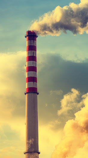 Smoke stack polluting the air