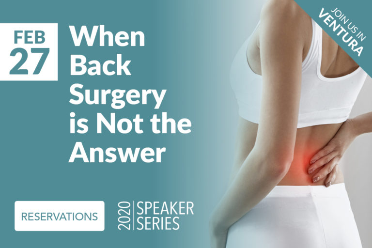 When back surgery is not the answer