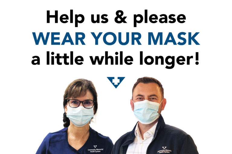 Help us and wear your mask a little while longer!
